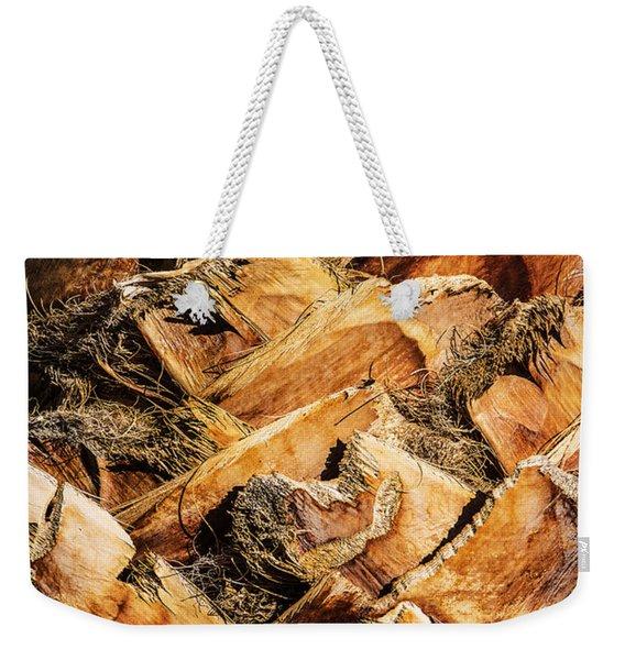 Palm Bark Weekender Tote Bag