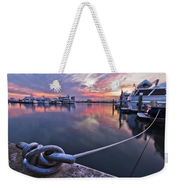 Palm Beach Harbor Weekender Tote Bag