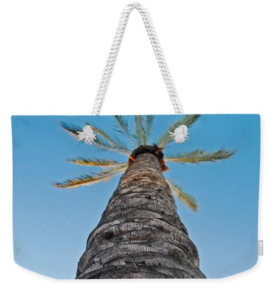 Palm Tree Looking Up Weekender Tote Bag