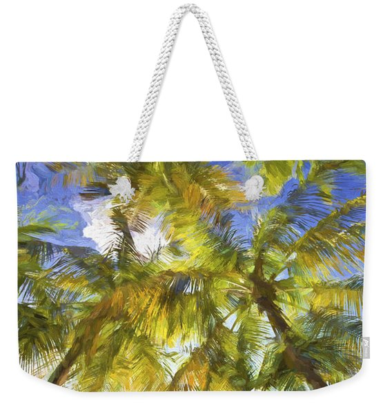 Palm Trees Of Aruba Weekender Tote Bag