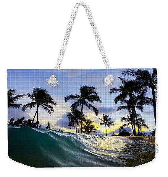 Palm Wave Weekender Tote Bag