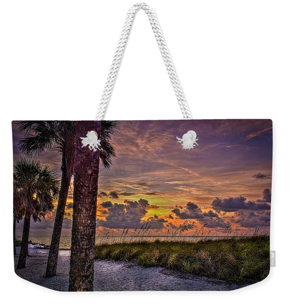 Palms Down To The Beach Weekender Tote Bag