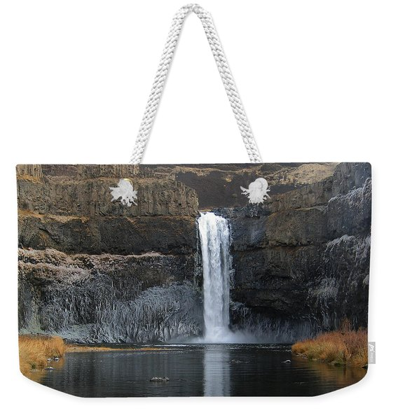 Palouse Falls In The Winter Weekender Tote Bag