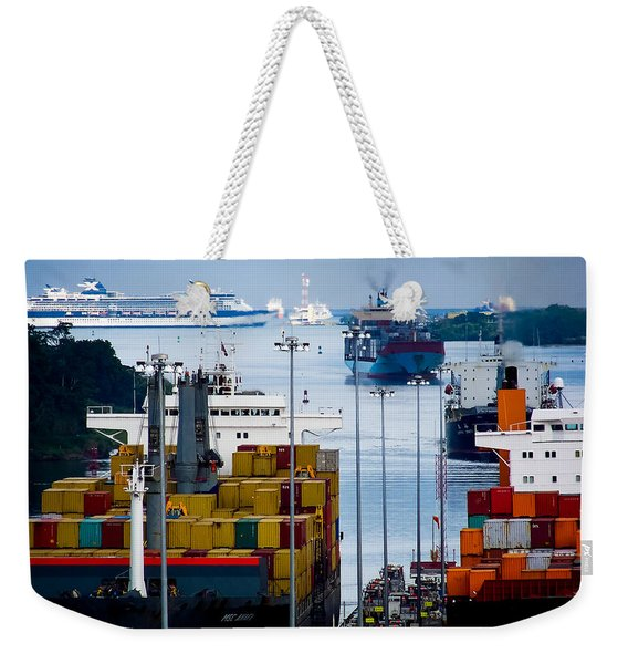 Panama Canal Express Weekender Tote Bag