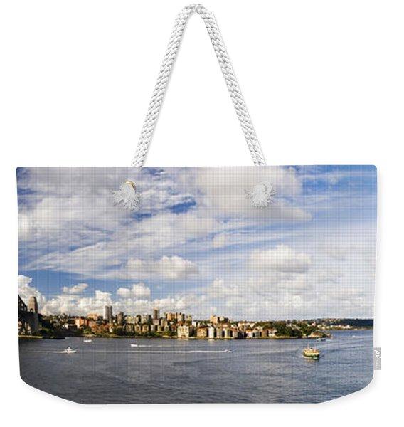Panorama Of Sydney Harbor Weekender Tote Bag