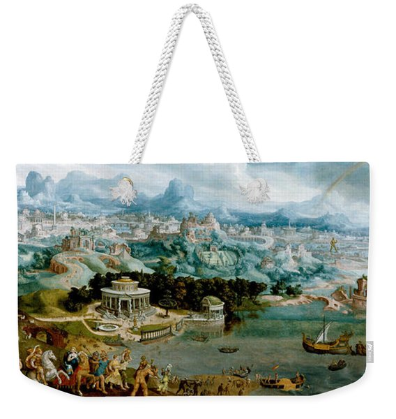 Panorama With The Abduction Of Helen Amidst The Wonders Of The Ancient World Weekender Tote Bag
