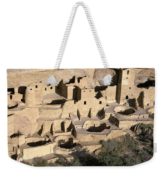 Panoramic View Of Cliff Palace Cliff Weekender Tote Bag