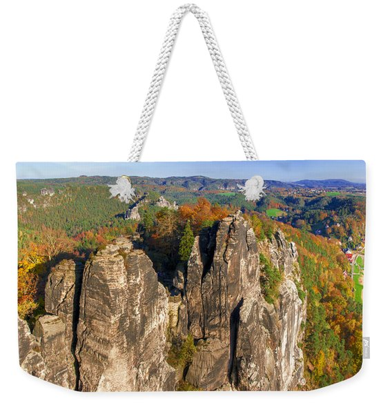 Panoramic Views Of Neurathen Castle Weekender Tote Bag