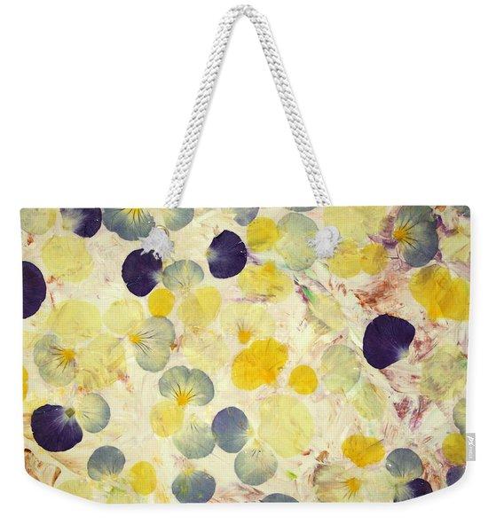 Pansy Petals Weekender Tote Bag