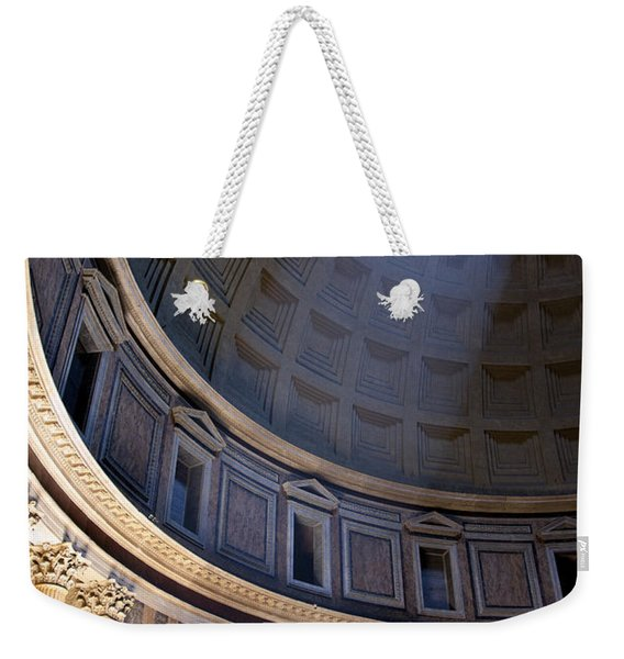 Weekender Tote Bag featuring the photograph Pantheon Interior by Brian Jannsen