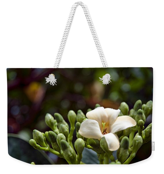 Papaya Flower Weekender Tote Bag