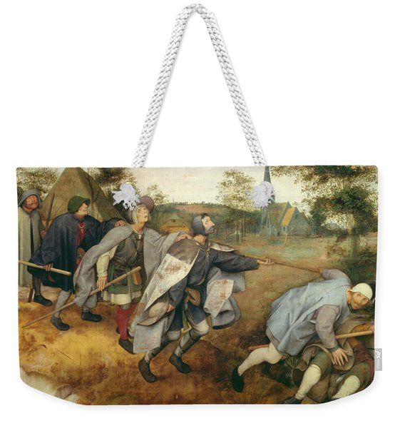Parable Of The Blind, 1568 Tempera On Canvas Weekender Tote Bag