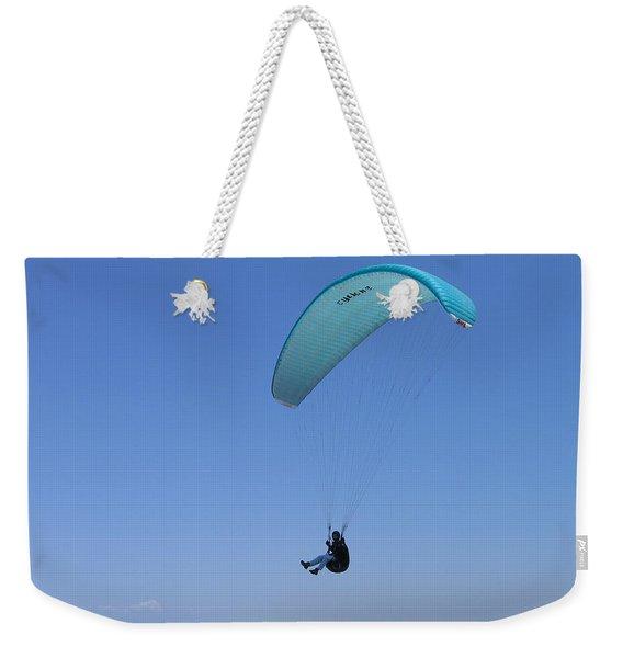 Paraglider Over Sand City Weekender Tote Bag