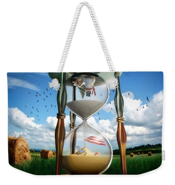 Parallel And Complementary Weekender Tote Bag
