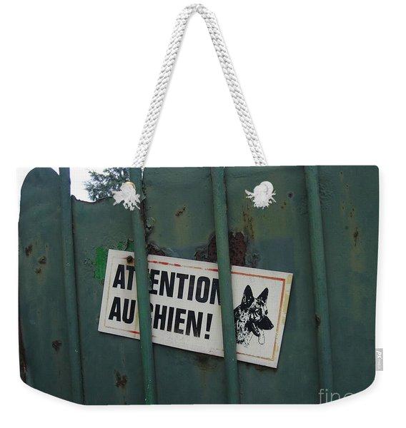 Paris - Farm Dog Weekender Tote Bag
