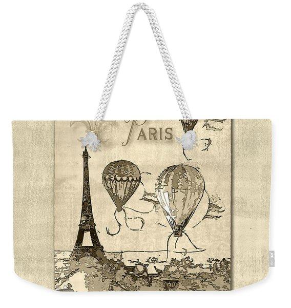 Paris In Sepia Weekender Tote Bag