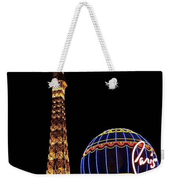 Paris In Vegas Weekender Tote Bag