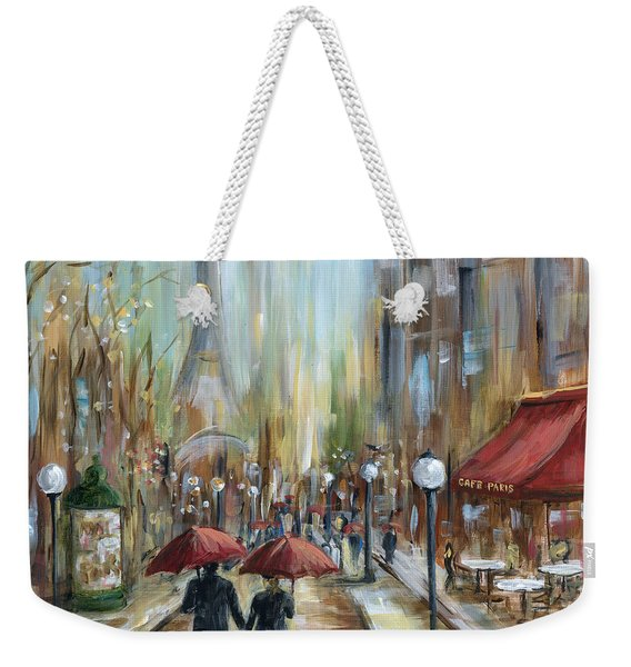 Paris Lovers Ill Weekender Tote Bag