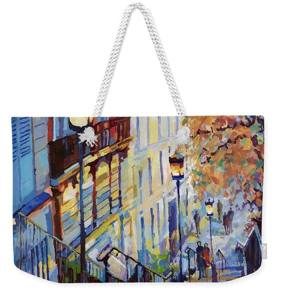 Paris Monmartr Steps Weekender Tote Bag