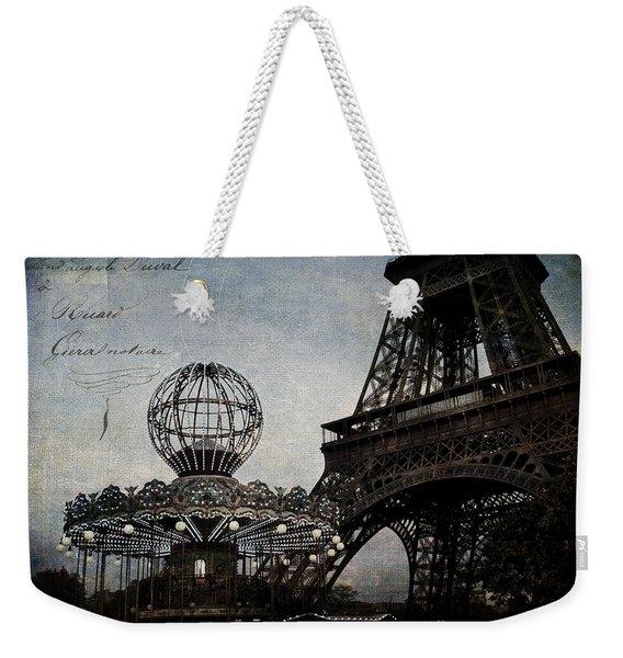Paris One More Ride Weekender Tote Bag