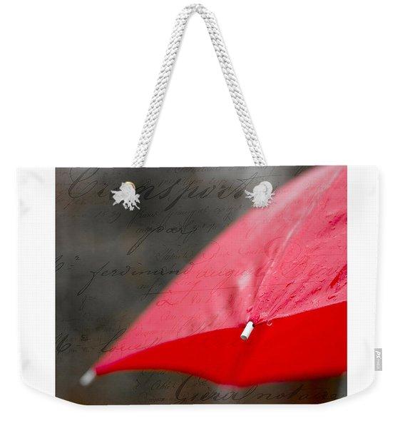 Paris Rains Original Signed Mini Weekender Tote Bag