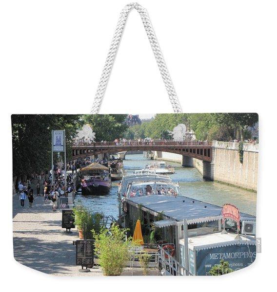 Paris - Seine Scene Weekender Tote Bag