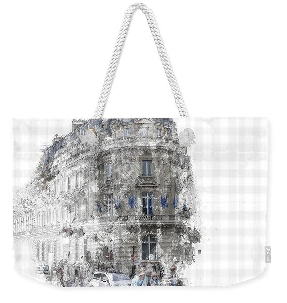 Paris With Flags Weekender Tote Bag