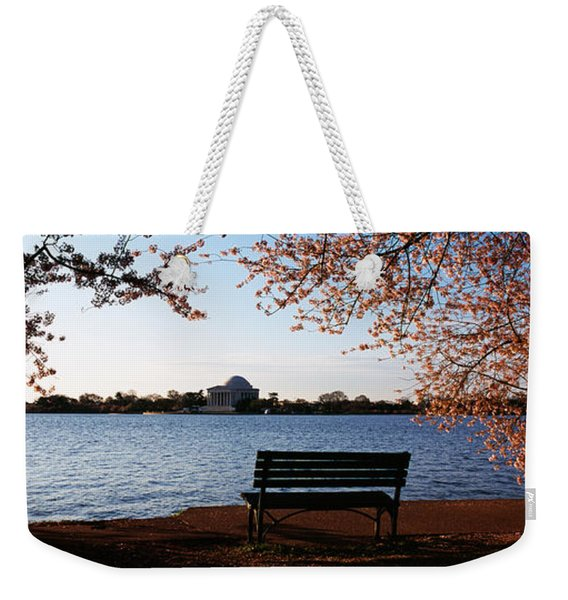 Park Bench With A Memorial Weekender Tote Bag