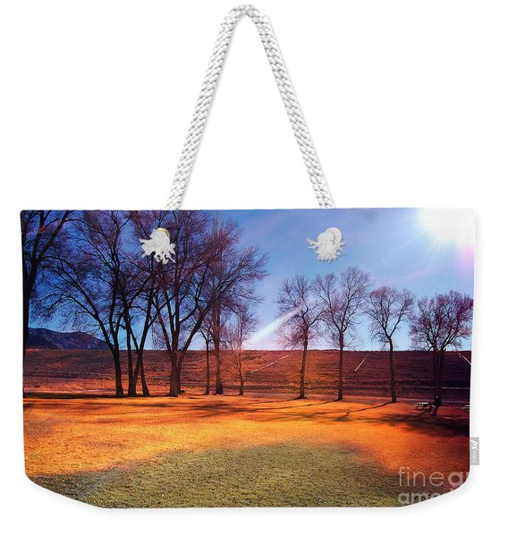 Park In Mcgill Near Ely Nv In The Evening Hours Weekender Tote Bag