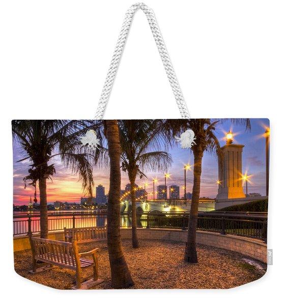 Park On The West Palm Beach Wateway Weekender Tote Bag