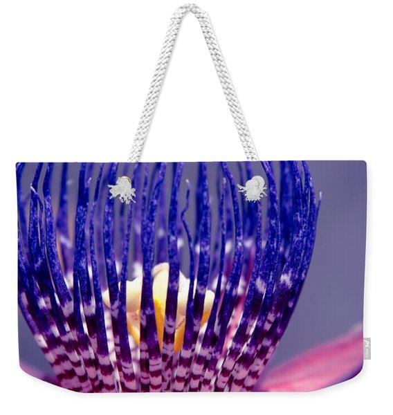 Passiflora Alata - Ruby Star - Ouvaca - Fragrant Granadilla -  Winged-stem Passion Flower Weekender Tote Bag