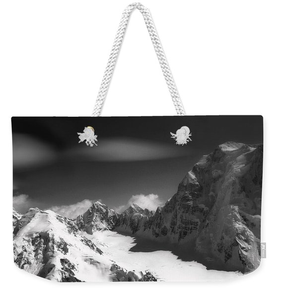 Passing By Snow Capped Mountains Weekender Tote Bag