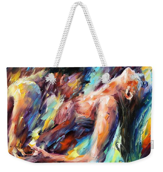 Passion - Palette Knife Figures Of Lovers Oil Painting On Canvas By Leonid Afremov Weekender Tote Bag