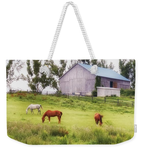 Weekender Tote Bag featuring the photograph Pasture by Garvin Hunter