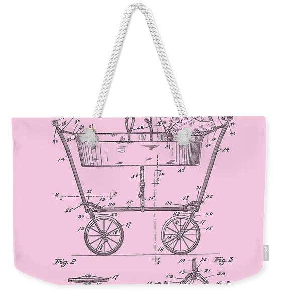 Patent Art Baby Carriage 1922 Mahr Design Pink Weekender Tote Bag