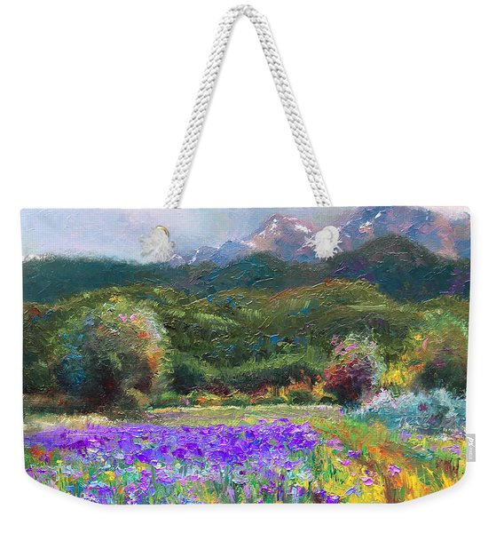 Weekender Tote Bag featuring the painting Path To Nowhere by Talya Johnson