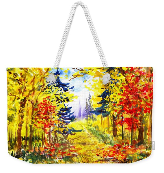 Path To The Fall Weekender Tote Bag