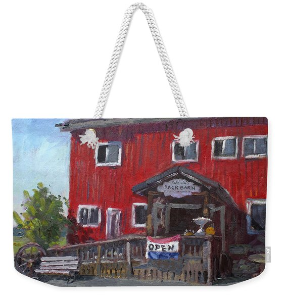 Patricia's Back Barn Weekender Tote Bag