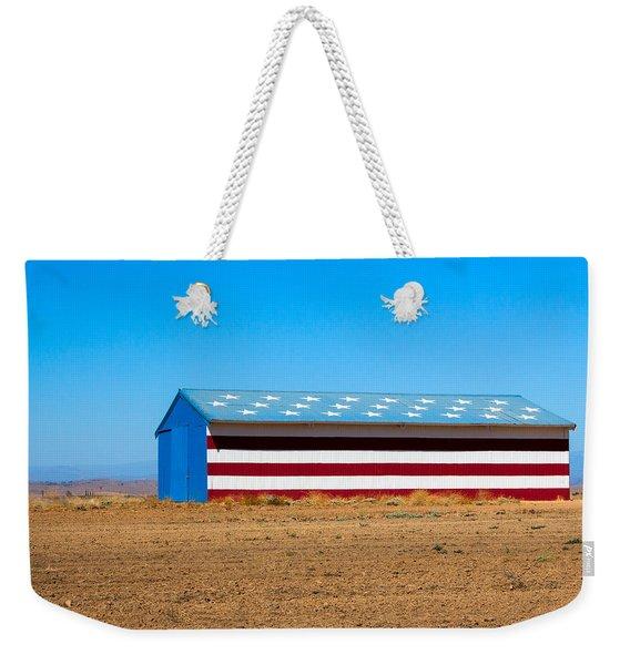 Patriotic Barn Weekender Tote Bag
