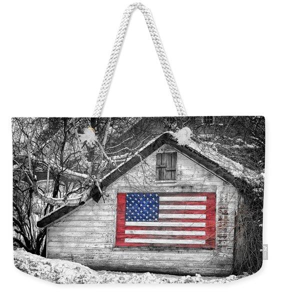 Patriotic American Shed Weekender Tote Bag