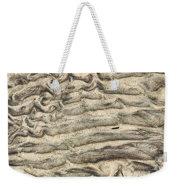 Weekender Tote Bag featuring the photograph Patterns In Sand 3 by William Selander