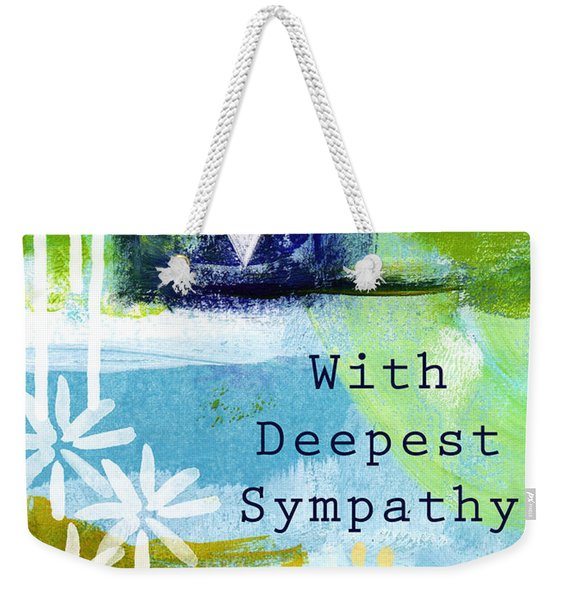 Paw Prints And Heart Sympathy Card Weekender Tote Bag