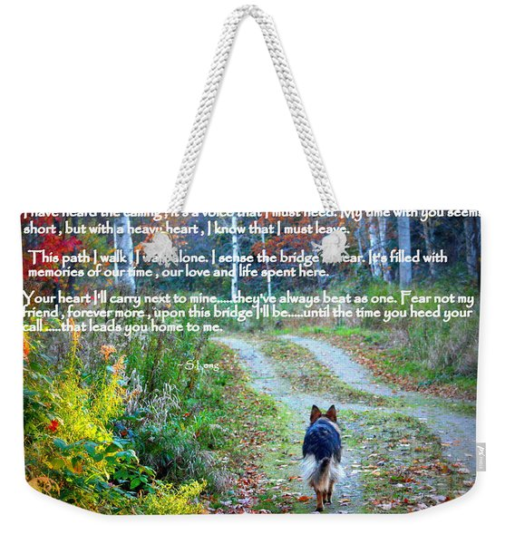 Paw Prints The Calling Weekender Tote Bag