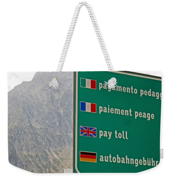 Pay Toll Italy Weekender Tote Bag