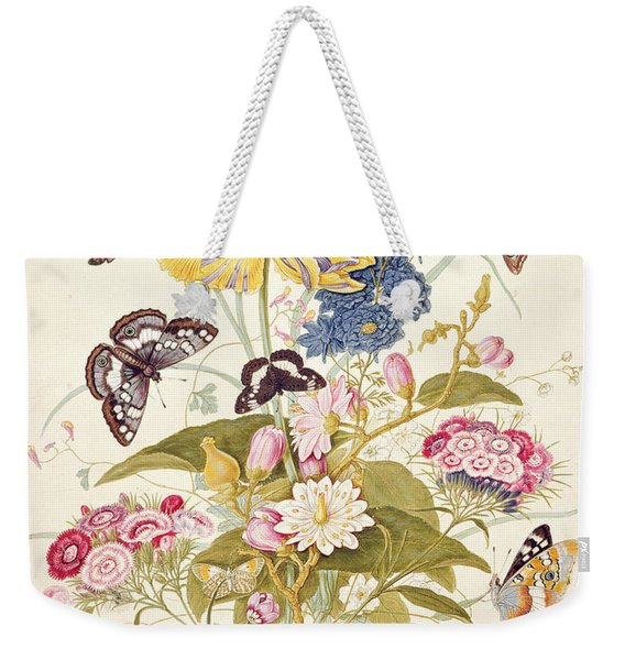 Pd.912-1973 Still Life Of Flowers Weekender Tote Bag