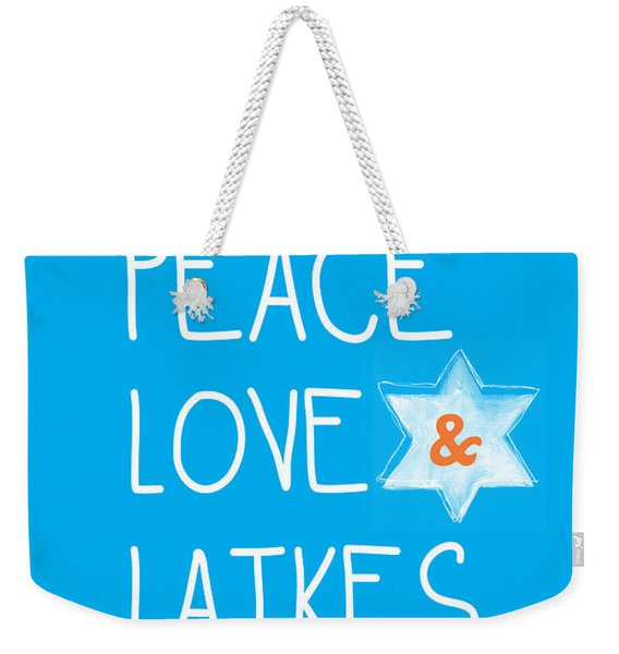 Peace Love And Latkes Weekender Tote Bag