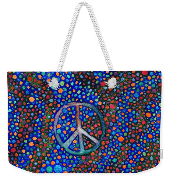 Peace Sign Weekender Tote Bag