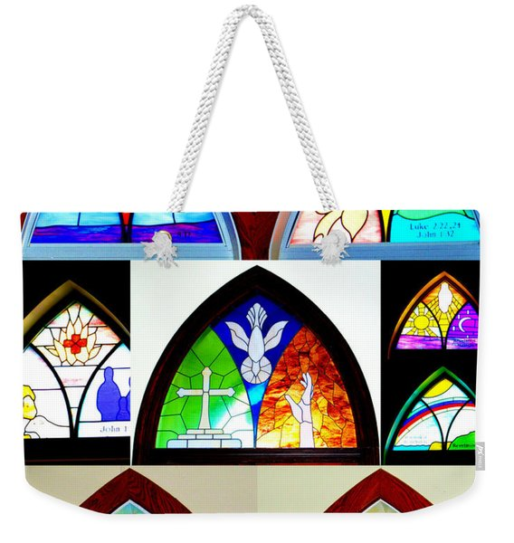 Peace To All Who Enter Here Weekender Tote Bag