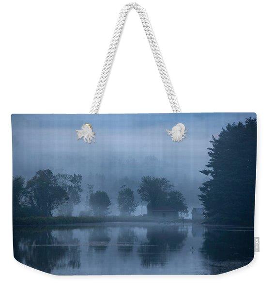 Peaceful Blue Weekender Tote Bag
