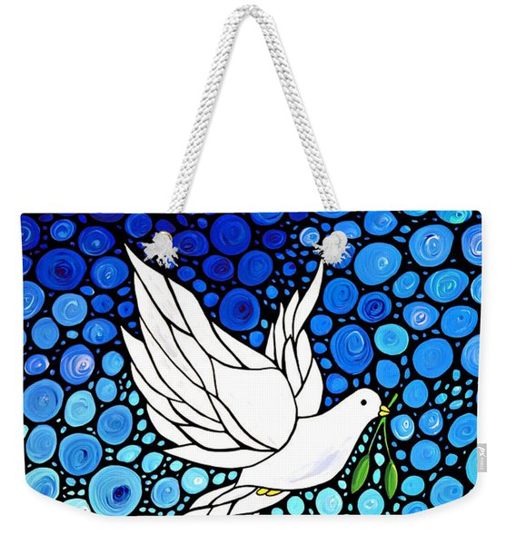 Peaceful Journey - White Dove Peace Art Weekender Tote Bag